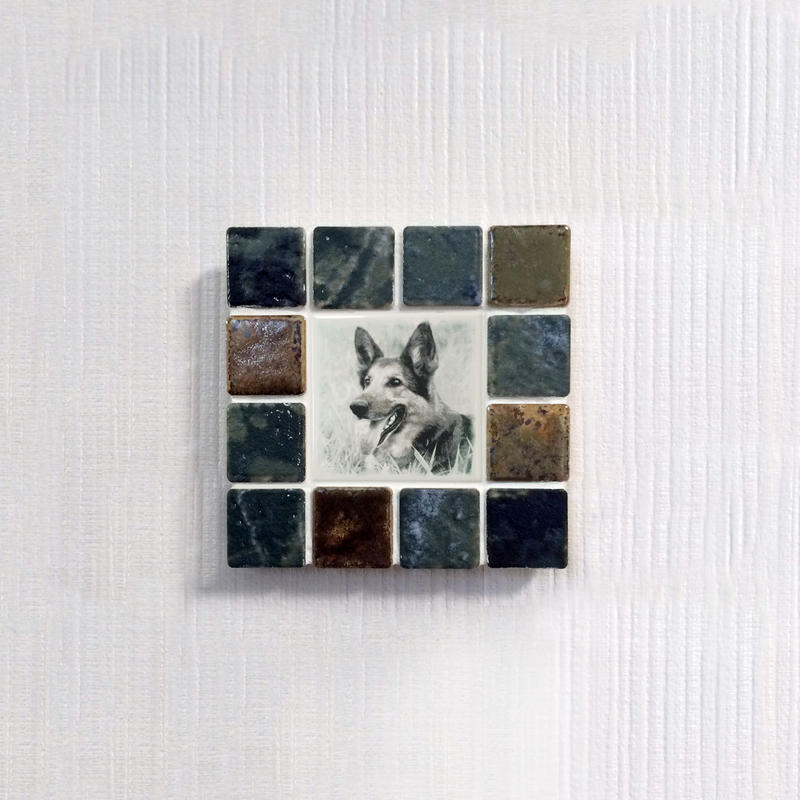 アンティークカラー/ウィザードリーフス(S)◆Tile Picture Frame(S)/Antique Tone/WITHERED LEAVES◆
