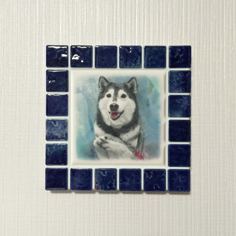 アンティークカラー/ネイビーブルー(M)◆Tile Picture Frame(M)/Antique Tone/NAVY BLUE◆