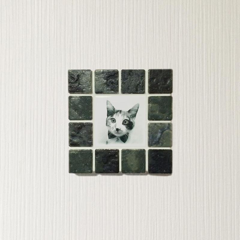 アンティークカラー/ジェードグリーン(S)◆Tile Picture Frame(S)/Antique Tone/JADE GREEN◆