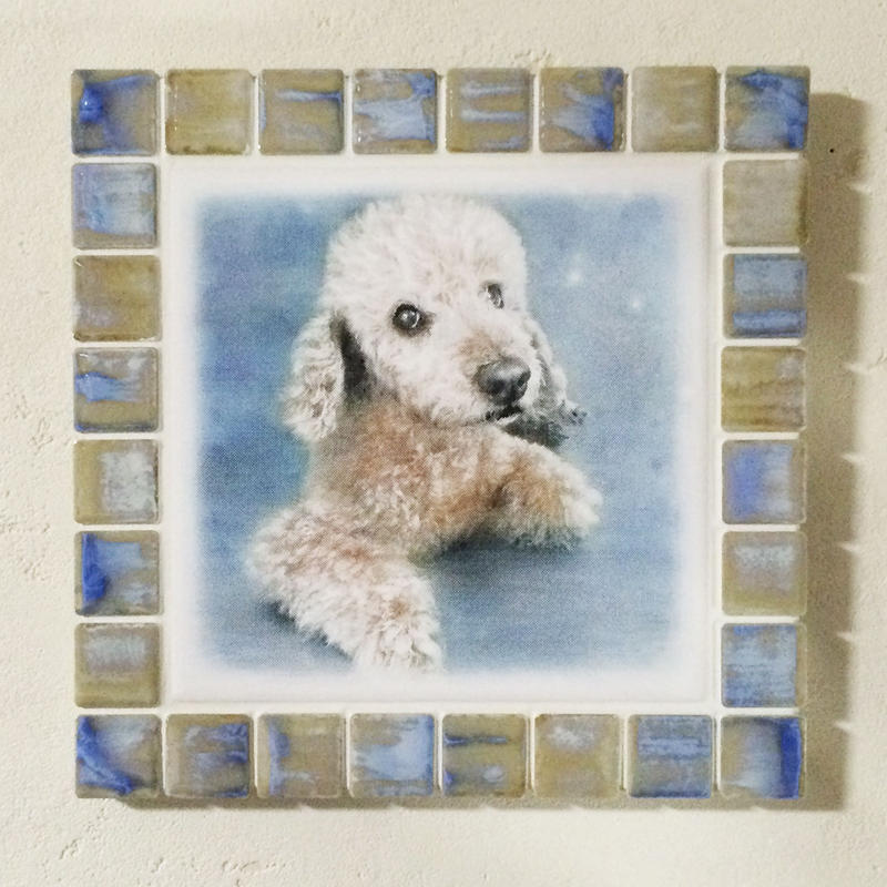 アンティークカラー/オパール(L)◆Tile Picture Frame(L)/Antique Tone/OPAL◆