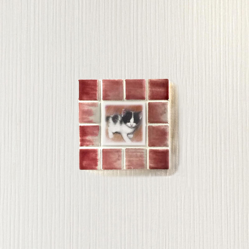 アンティークカラー/サンライズレッド(S)◆Tile Picture Frame(S)/Antique Tone/SUNRISE RED◆