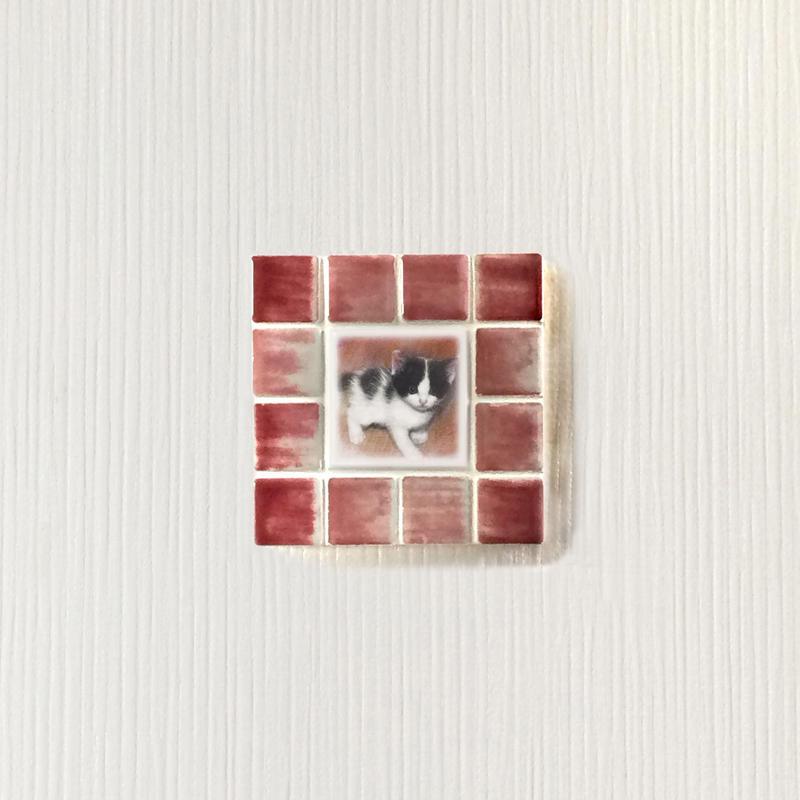 アンティークカラー/サンライズレッド(S)◆Tile Picture Frame(S)/Antique Tone/SUNRISE RED◆