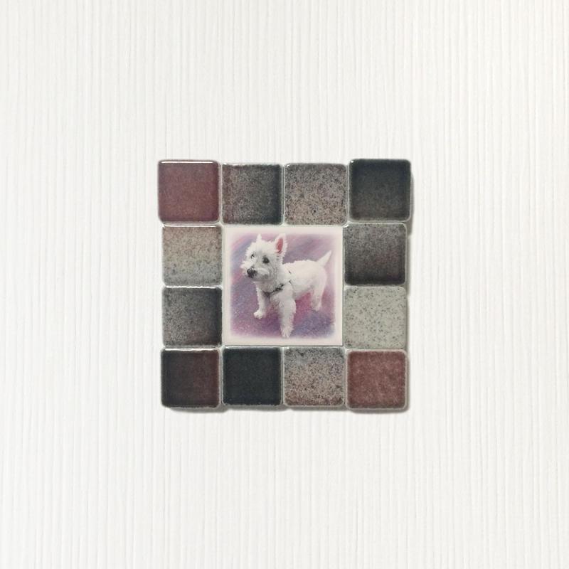 フォギーカラー/ブラックレッド(S)◆Tile Picture Frame(S)/Foggy Tone/BLACK-RED◆