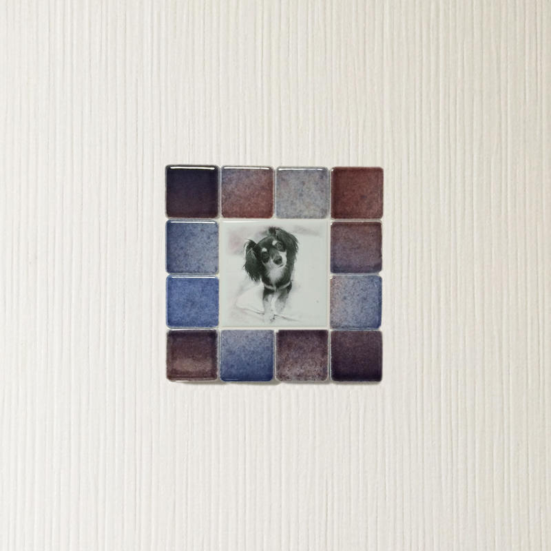 フォギーカラー/レッドブルー(S)◆Tile Picture Frame(S)/Foggy Tone/RED-BLUE◆
