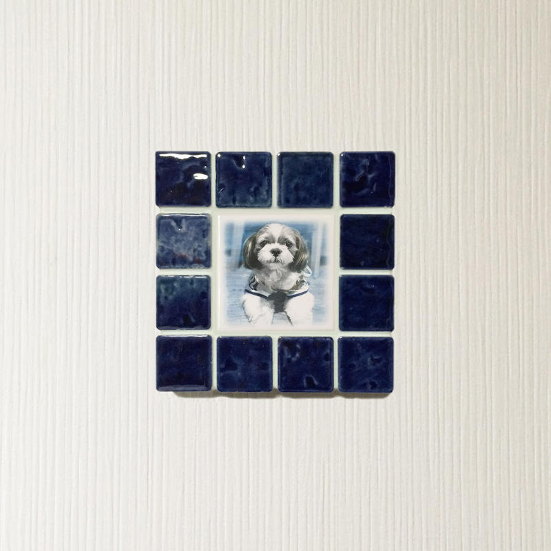 アンティークカラー/ネイビーブルー(S)◆Tile Picture Frame(S)/Antique Tone/NAVY BLUE◆