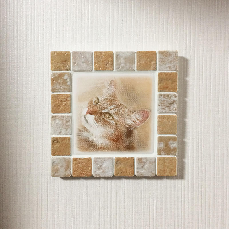アンティークカラー/アイボリー(M)◆Tile Picture Frame(M)/Antique Tone/IVORY◆
