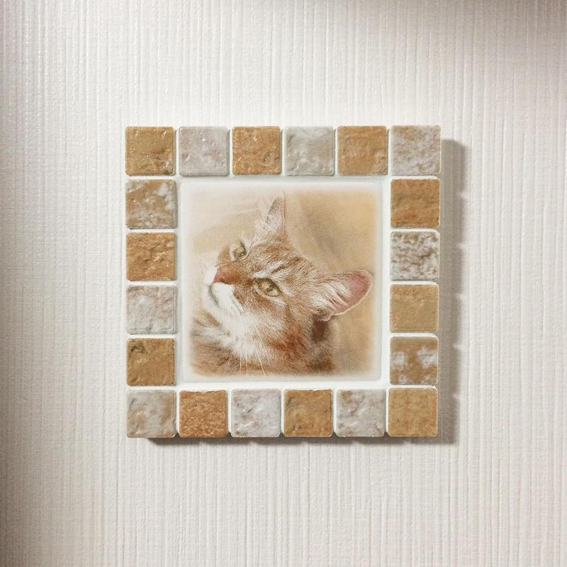 アンティークカラー/アイボリー(M)◆Tile Picture Frame(M)/Antique Tone/IVORY◆