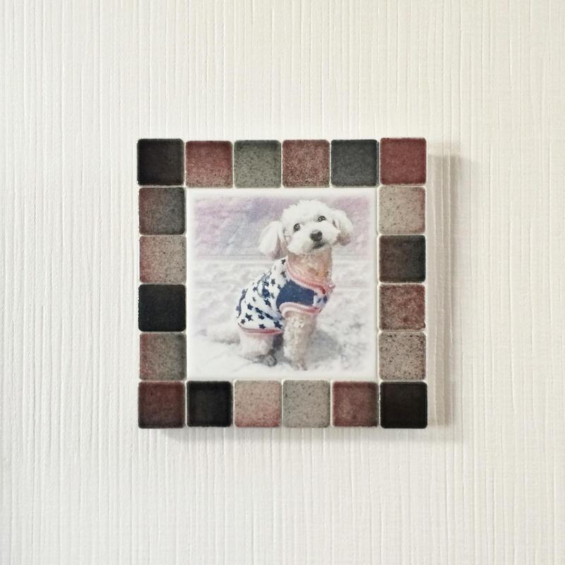 フォギーカラー/ブラックレッド(M)◆Tile Picture Frame(M)/Foggy Tone/BLACK-RED◆