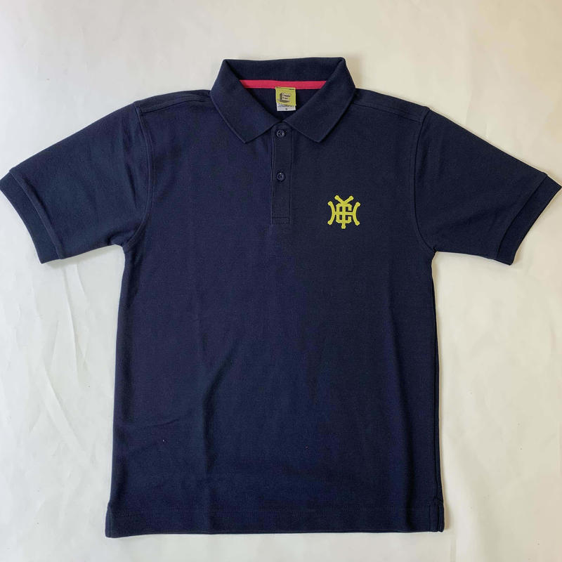 Check Your Head Monogram Polo Navy