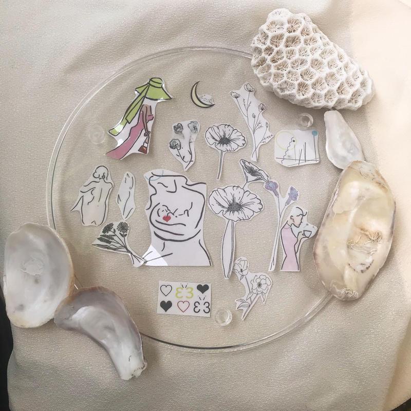 mark tattoo  jewelry set