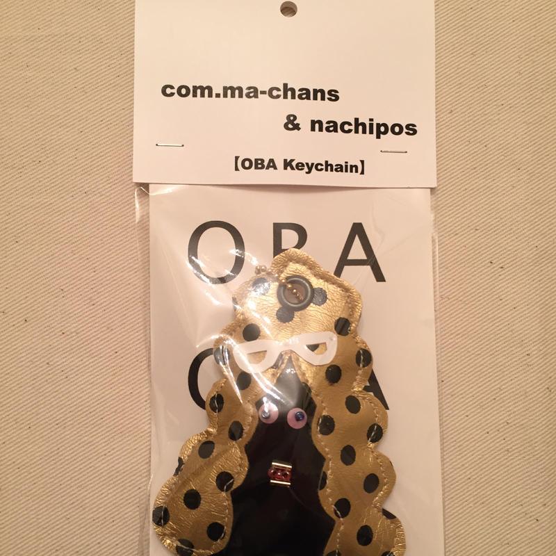 OBA Keychain     black × whiteglass