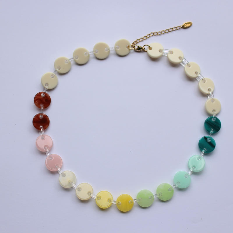 circle necklace  mulch