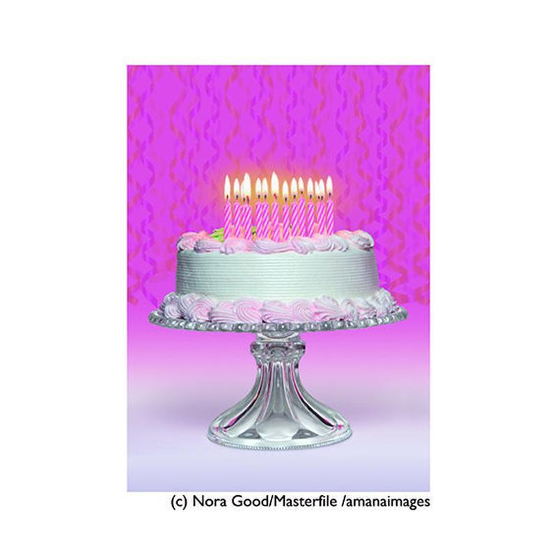 まとめ買いで【20%OFF】お得な『5枚』セット!!!      ポストカード【Birthday Cake】