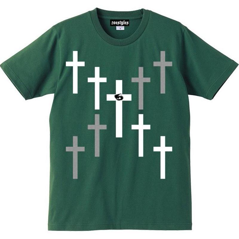 宙也 55 T-Shirt Designed by zoestyles (Green)