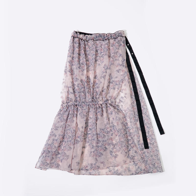 Printed See-through Skirt