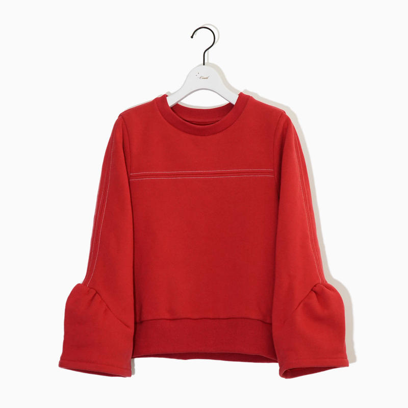 Volume sleeve sweat SH/裏起毛