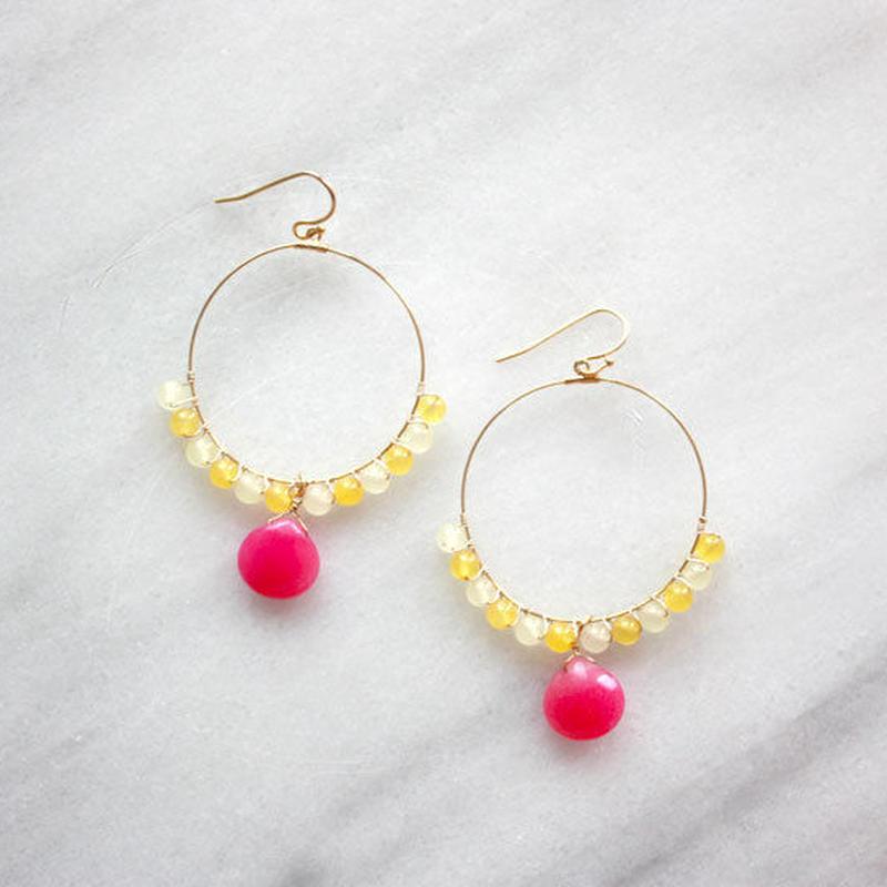 circle hoop Pink