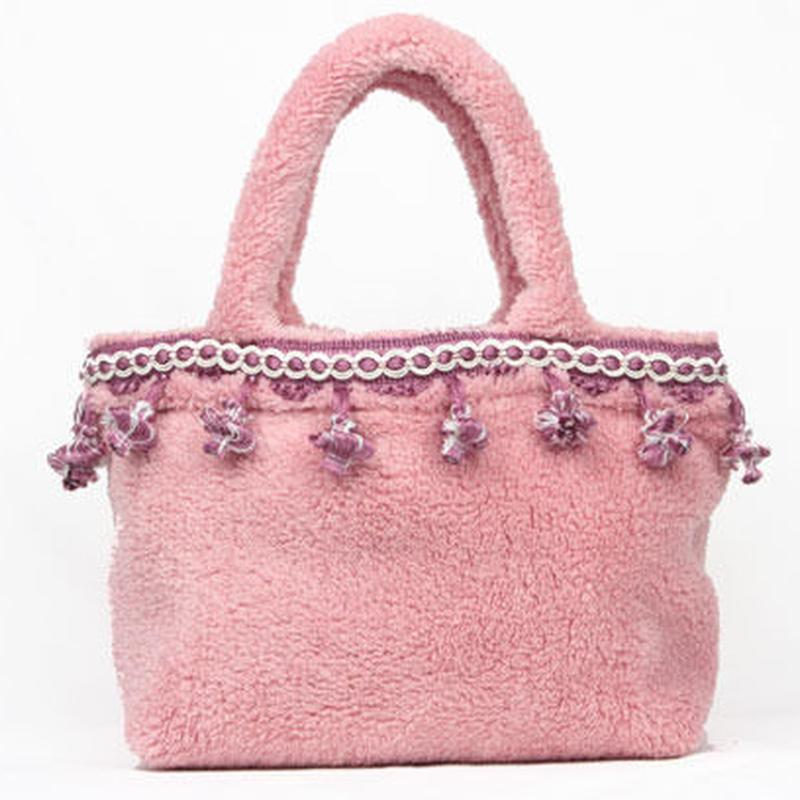 ボアトートバッグ pink