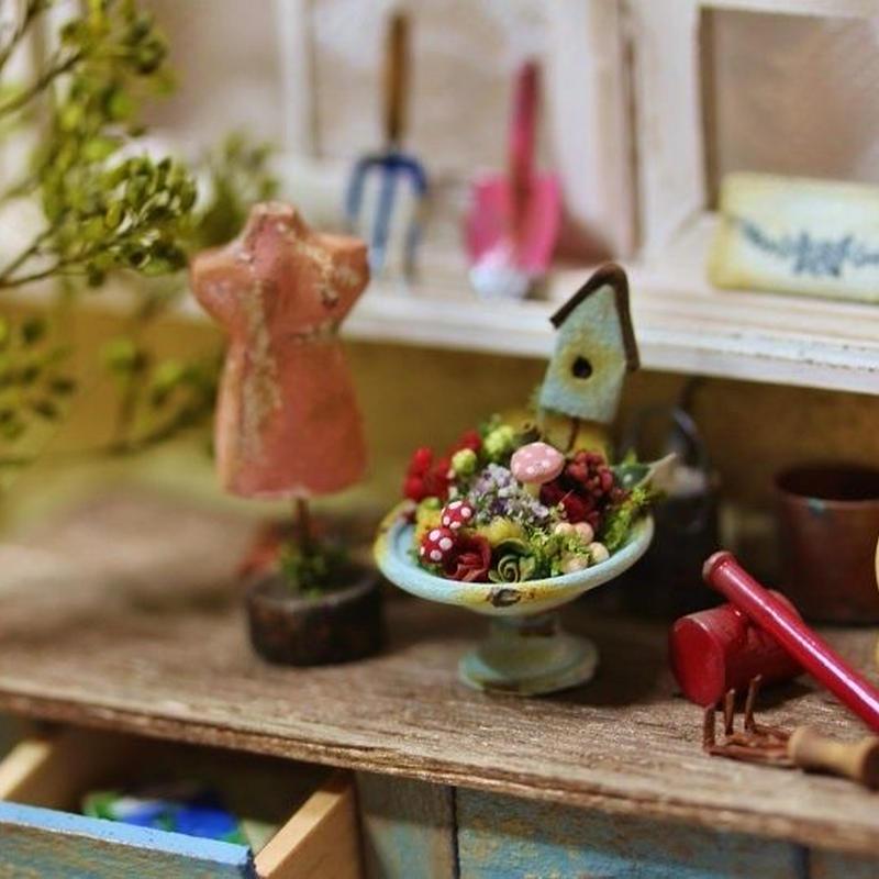多肉植物とキノコの寄せ植え・トルソー