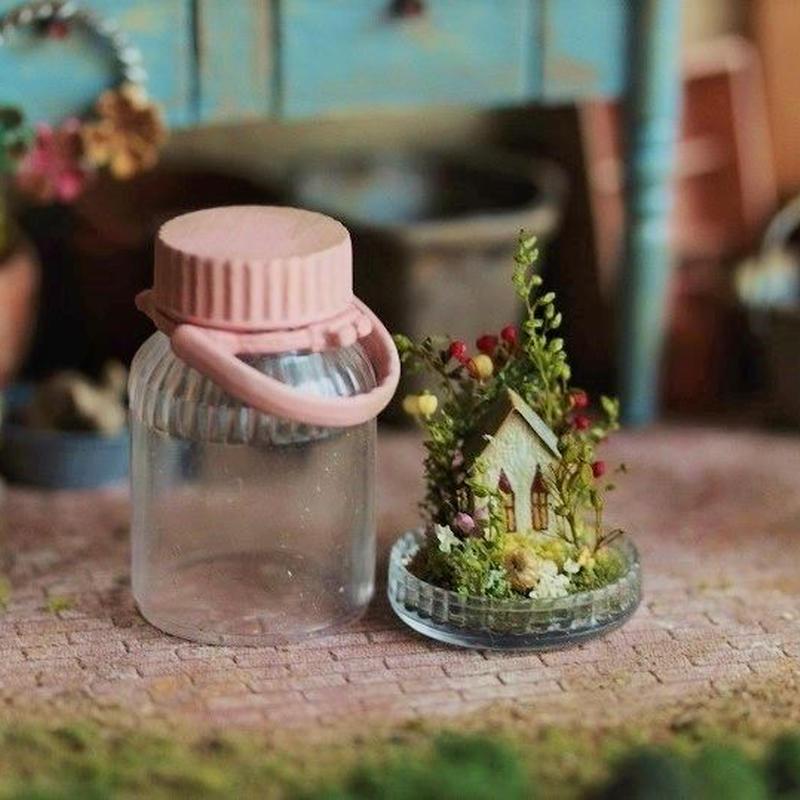 果実酒瓶の中の春・ピンク