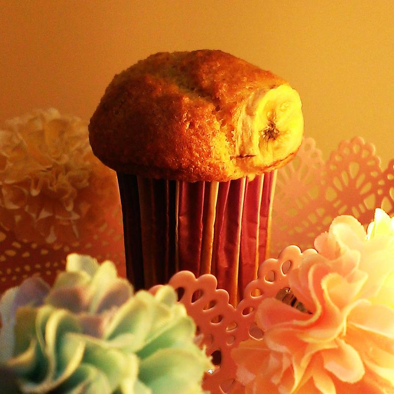 Pop star banana muffin
