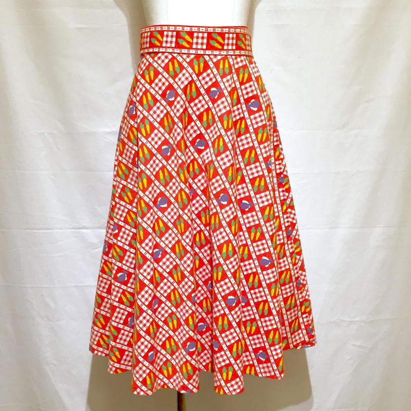 キャロット&フィシュ・ラップスカート(1970s France)