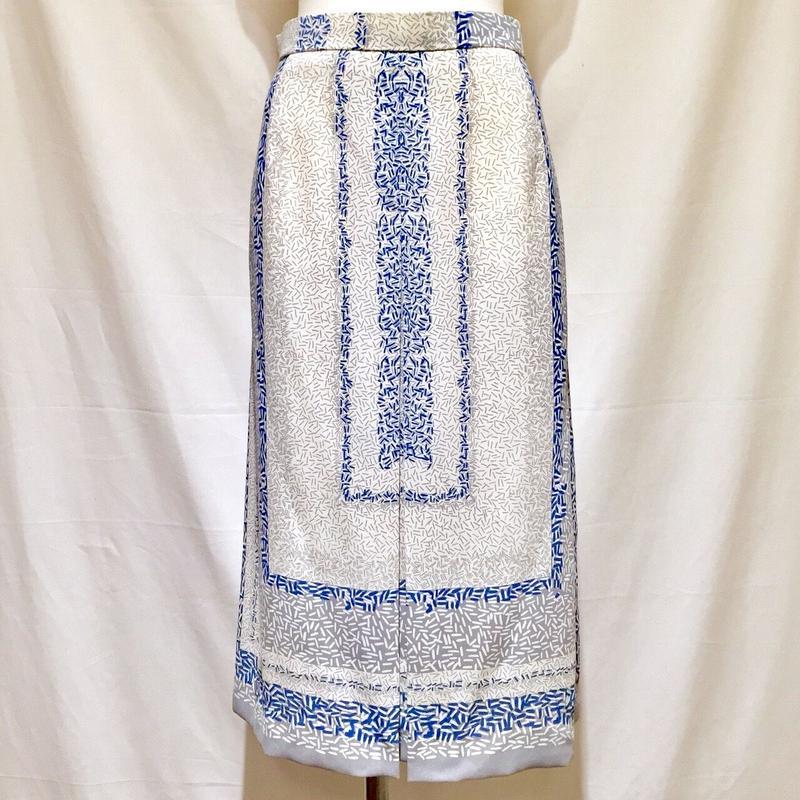 パターンプリント・スカート(1970s France デッドストック)