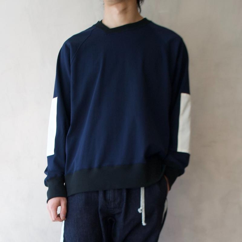 ANITYA/y-neck pullover(navy・SIZE 0.1.2)