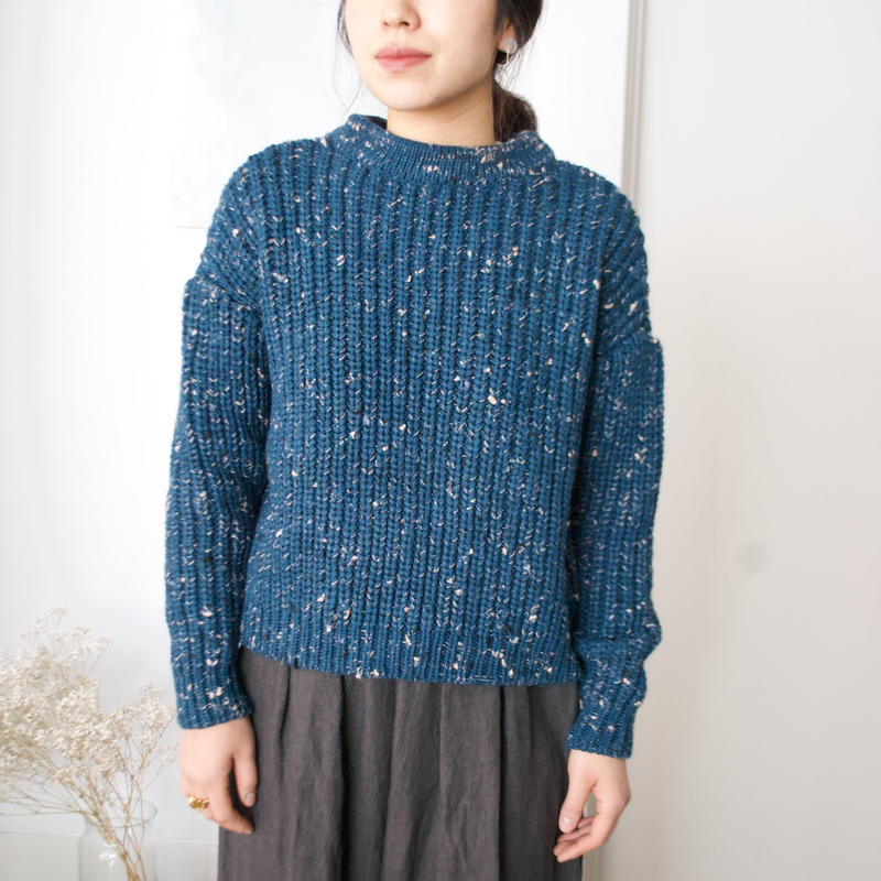 stone chocolate sweater(blue)