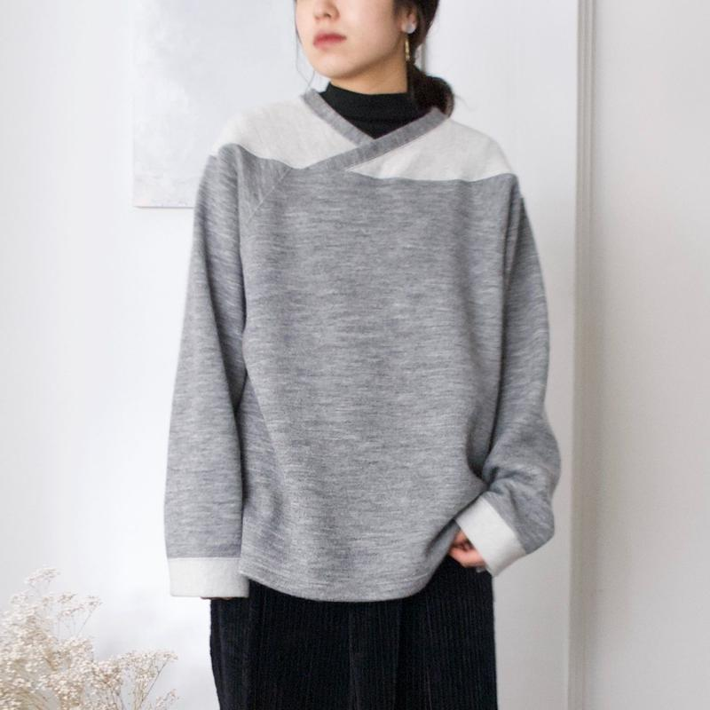 ANITYA/Football Knit Pullovers(gray)