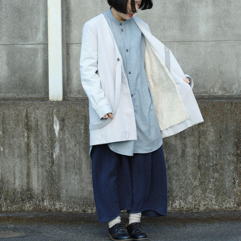 3tsui/fake suspender coat(gray)