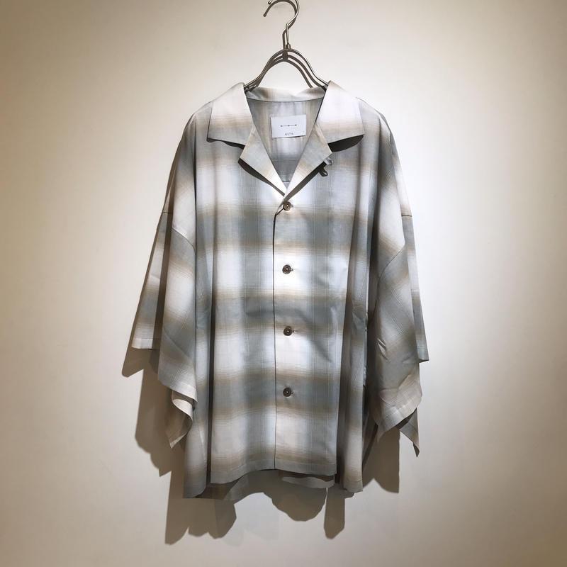 ANITYA/Poncho Open collared Shirt(beige)