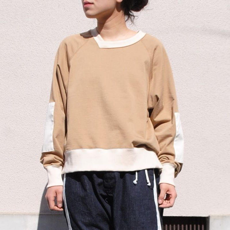 ANITYA/y-neck pullover(beige・SIZE 0)