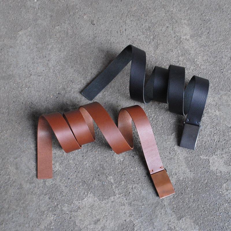 ASEEDONCLOUD ・Handwerker/leather belt(brown・black)
