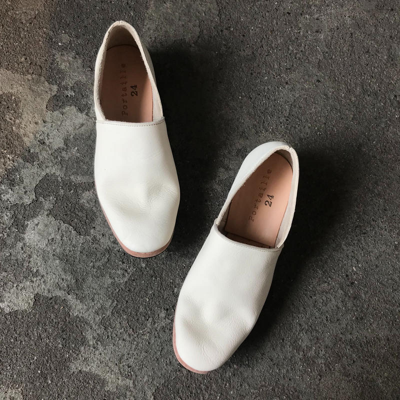 Portaille/ラフスリッポン(white・ladies)