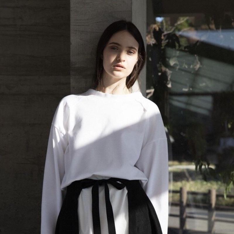 ANITYA/Ope tee long sleeve(white)