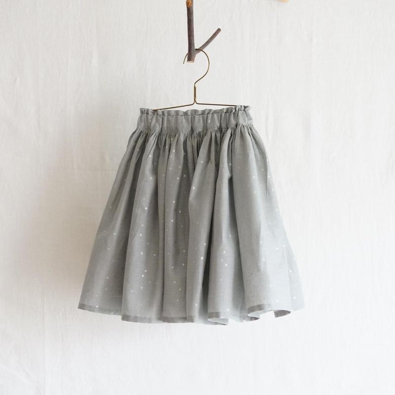 ギャザースカート/グレー