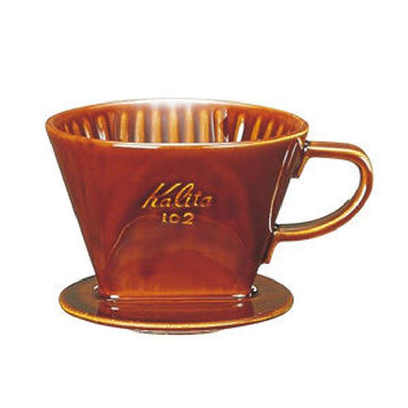 陶器製コーヒードリッパー 102 ロトブラウン 2〜4杯用
