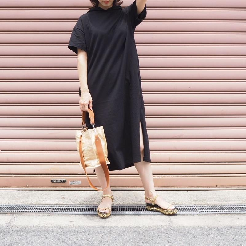 hoodie dress BLACK