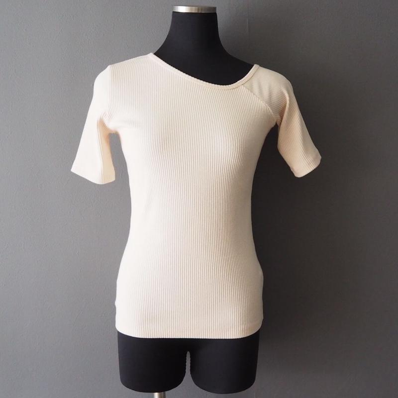 rib design neck top