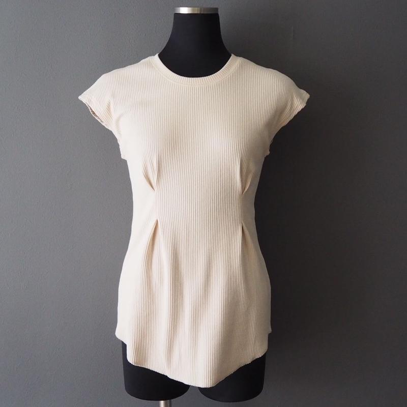 rib french sleeve  design top