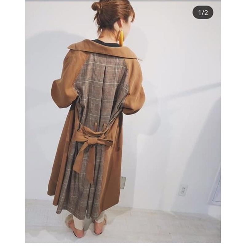 back check trench coat