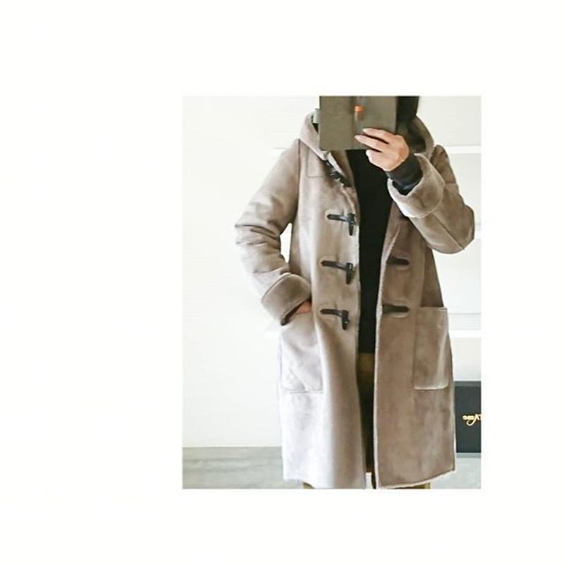 eco fur mouton coat