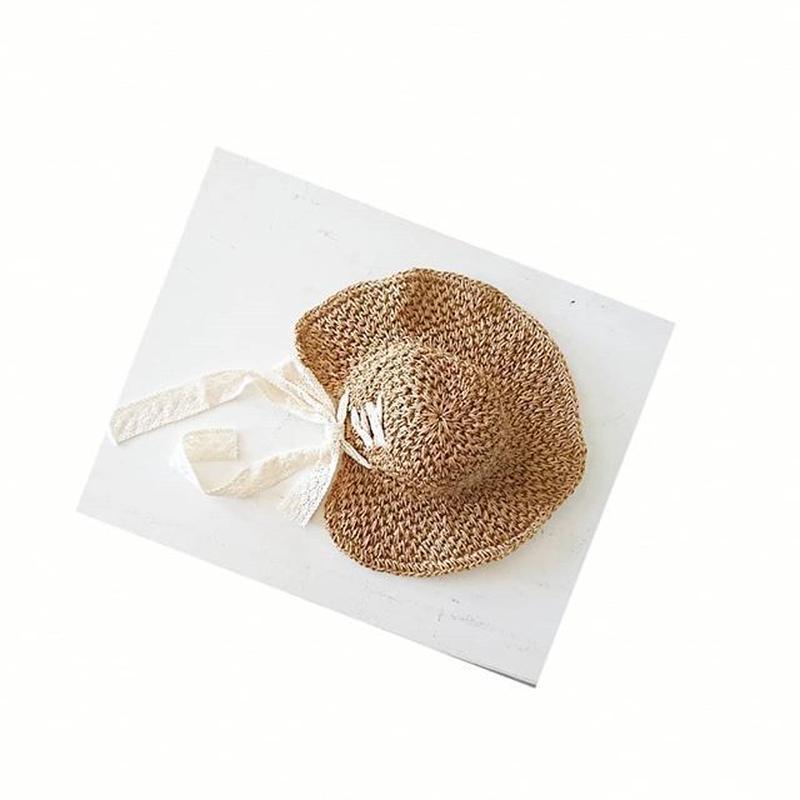 back ribbon hat
