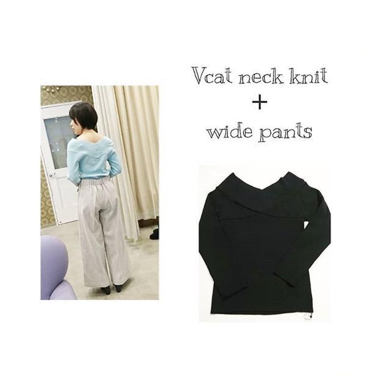 V cut neck Knit