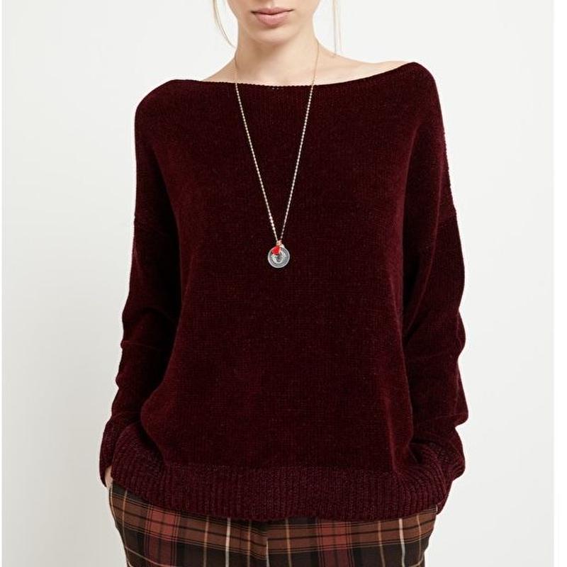 Chenille yarn knit