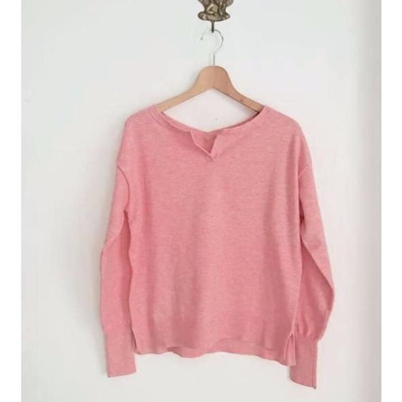 cut neck knit
