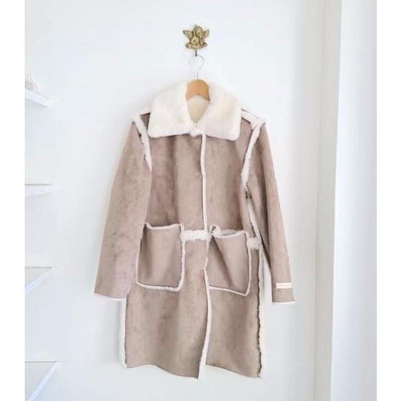 reversible eco fur coat