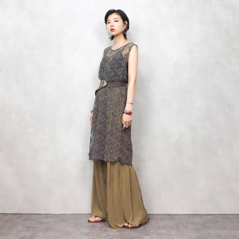 Monotone summer knit tunic-416-7