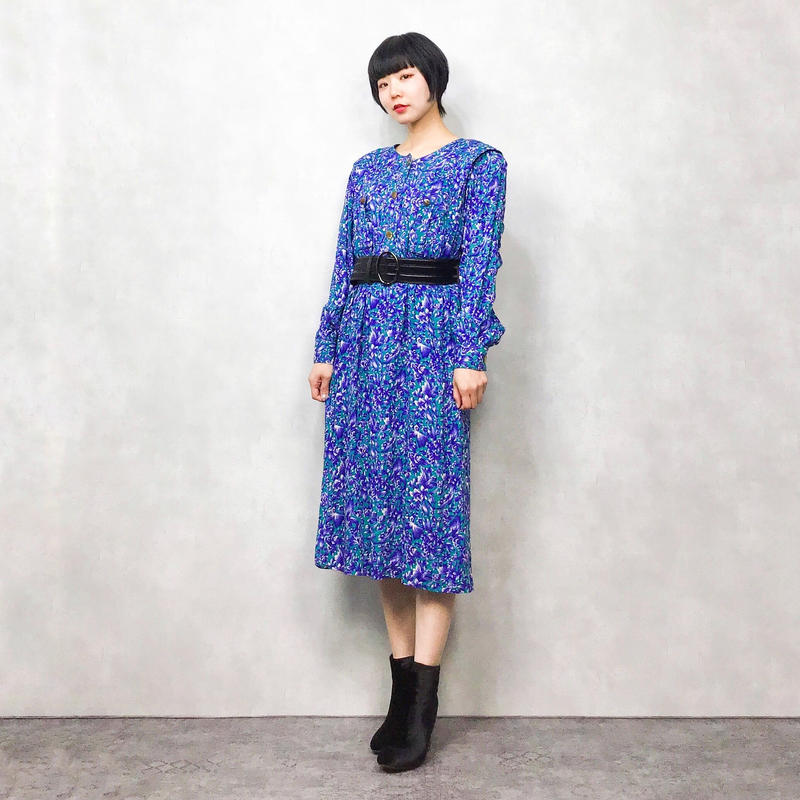 LESLIE FAY blue flower one piece
